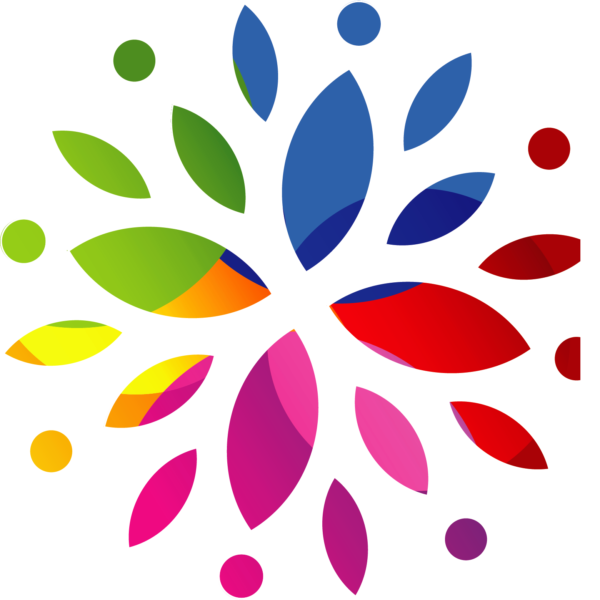 Multi-color floral graphic