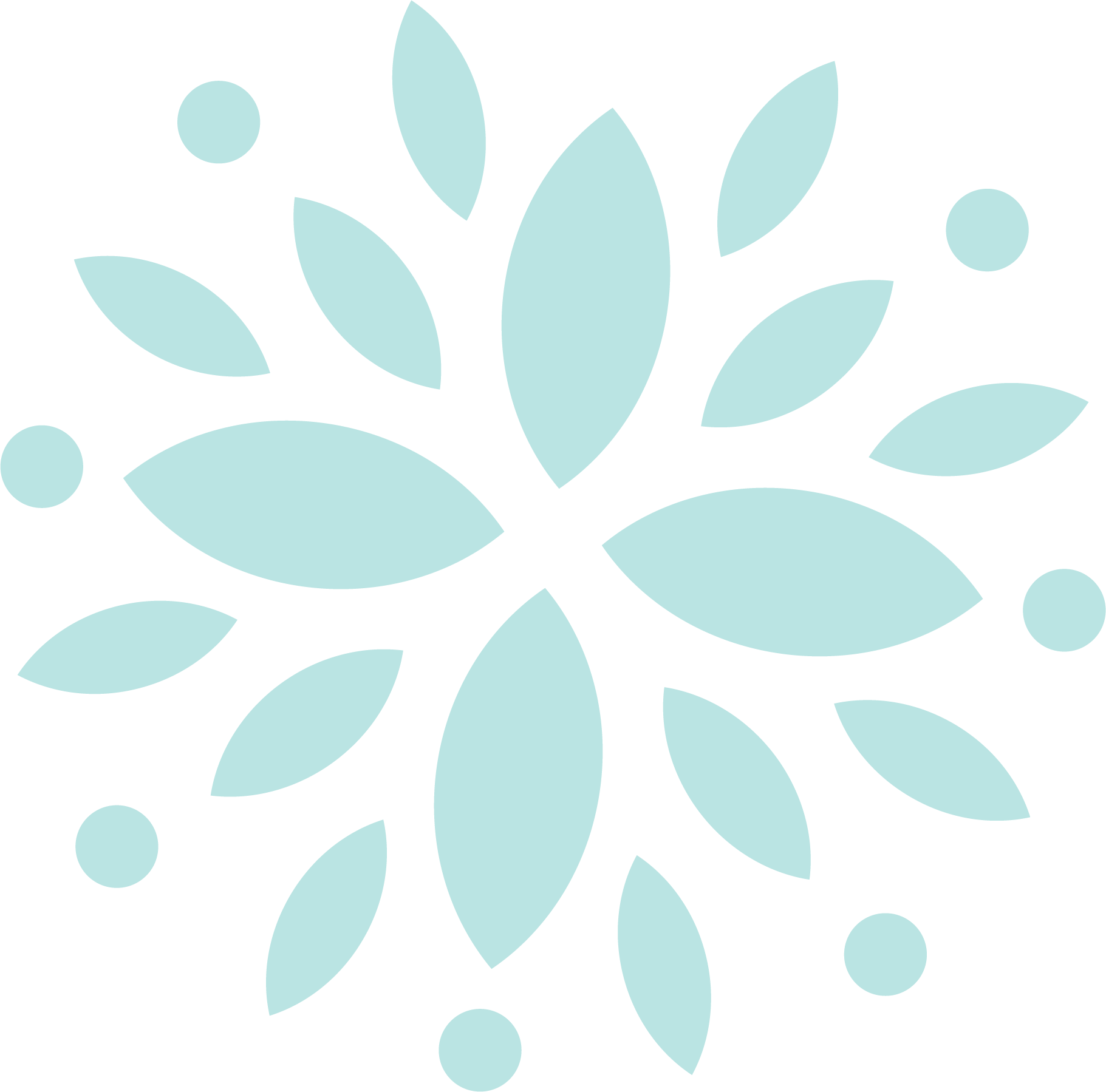 floral graphic - blue